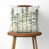 Woodland Trees toss pillow cover