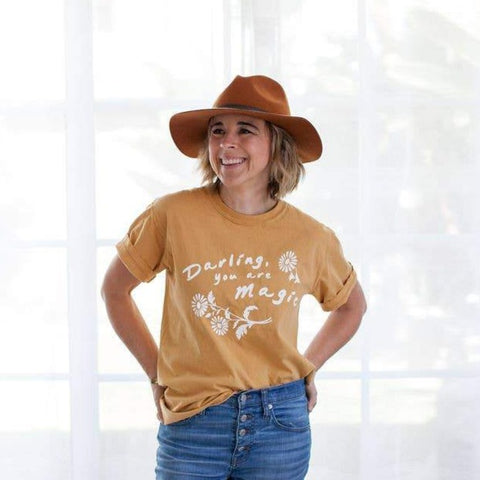 Darling You are Magic Tee in Mustard