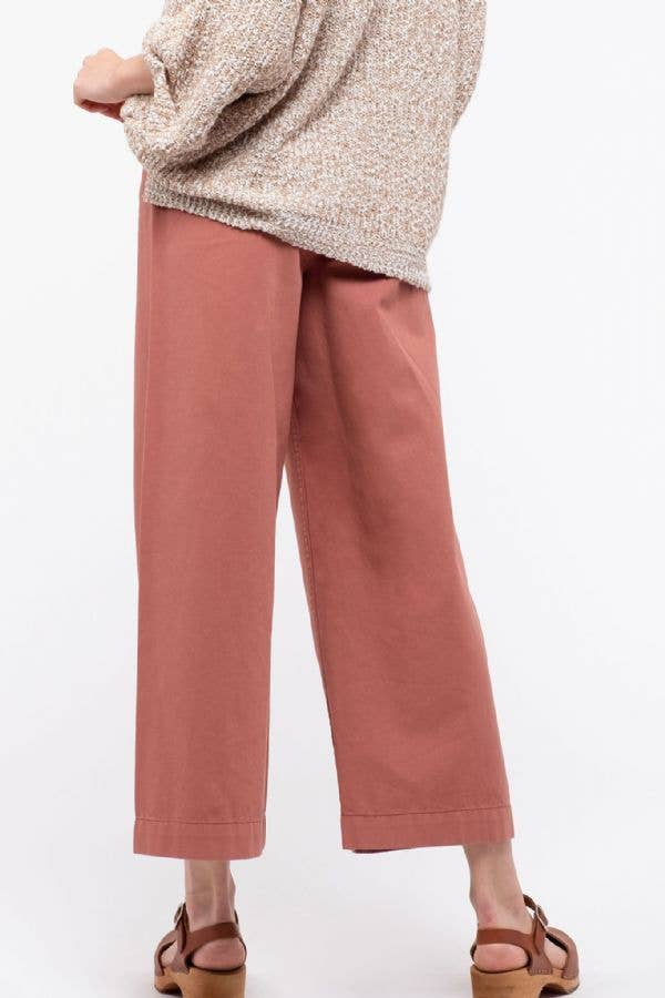 Wide Leg Pants in Cinnamon