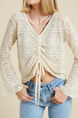 Crochet Top in Cream