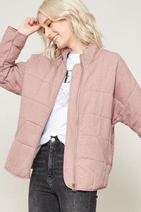Quilted Woven Jacket