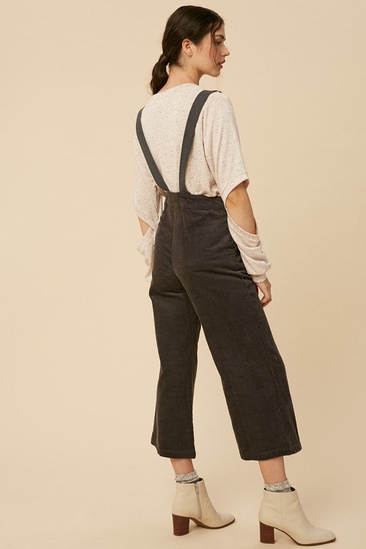 Lisette Corduroy Overall in Grey