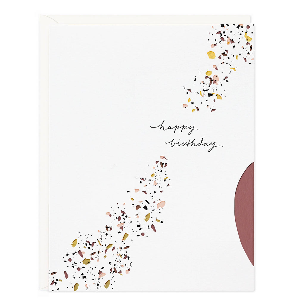 Happy Birthday Terrazzo Card