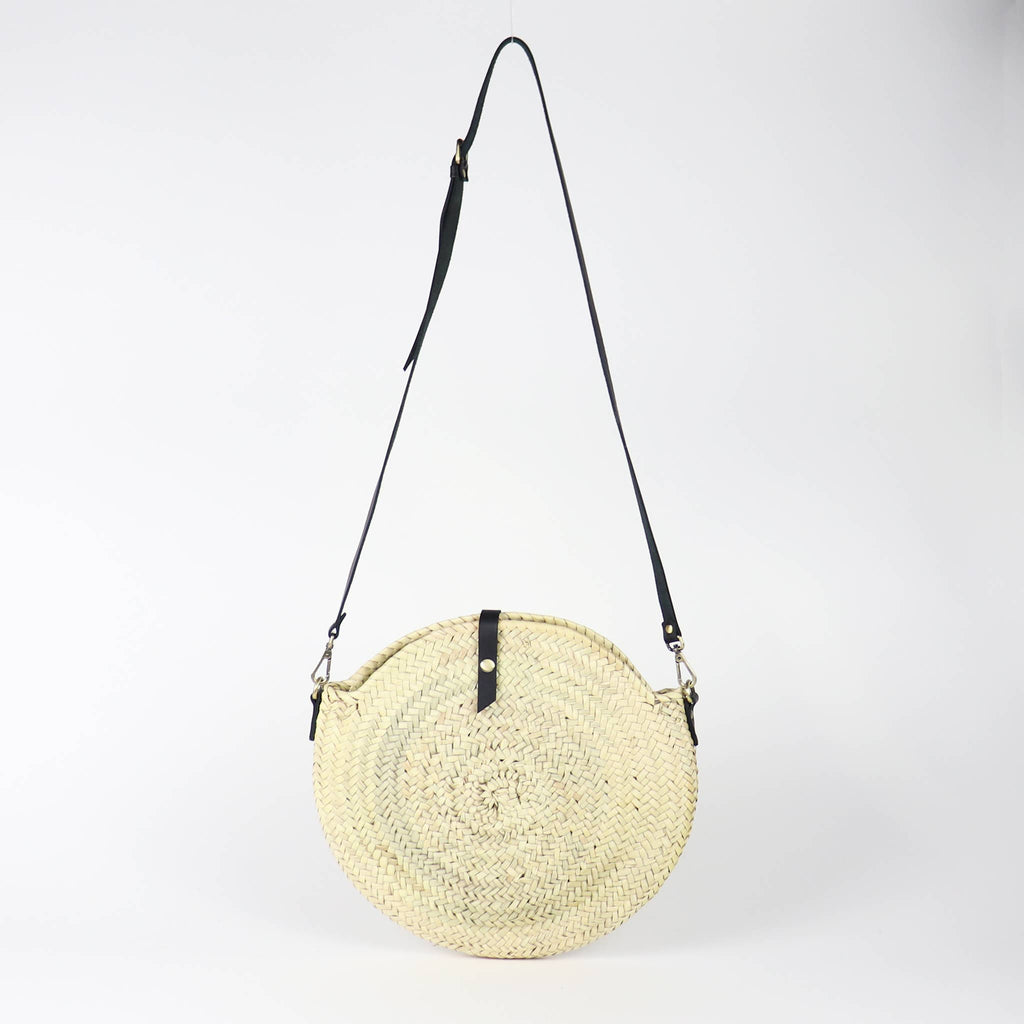 Valencia Crossbody Round Straw Bag