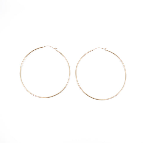 Classic Hoop Earrings in Gold