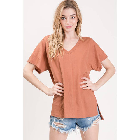 Gabi V-neck Basic Top