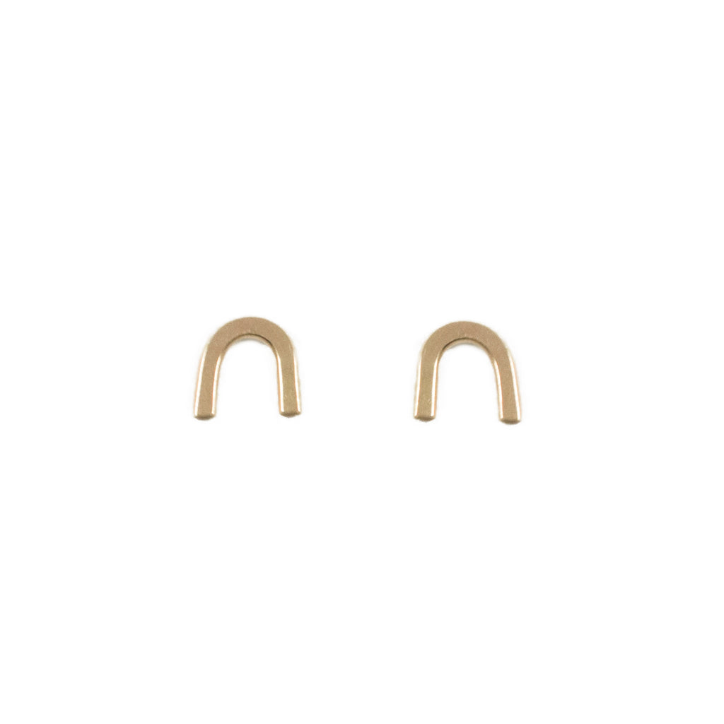 Arch Rainbow Stud Earrings in Gold