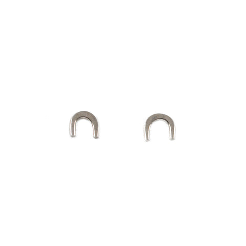 Arch Rainbow Stud Earrings in Silver