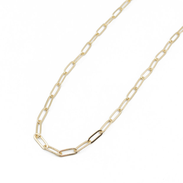 Marigold Chunky Paperclip Chain Necklace in Gold 1
