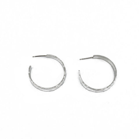 Chunky Hoop Earrings in Silver