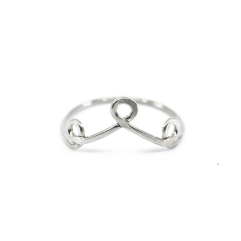 dainty silver minimalist stacking ring