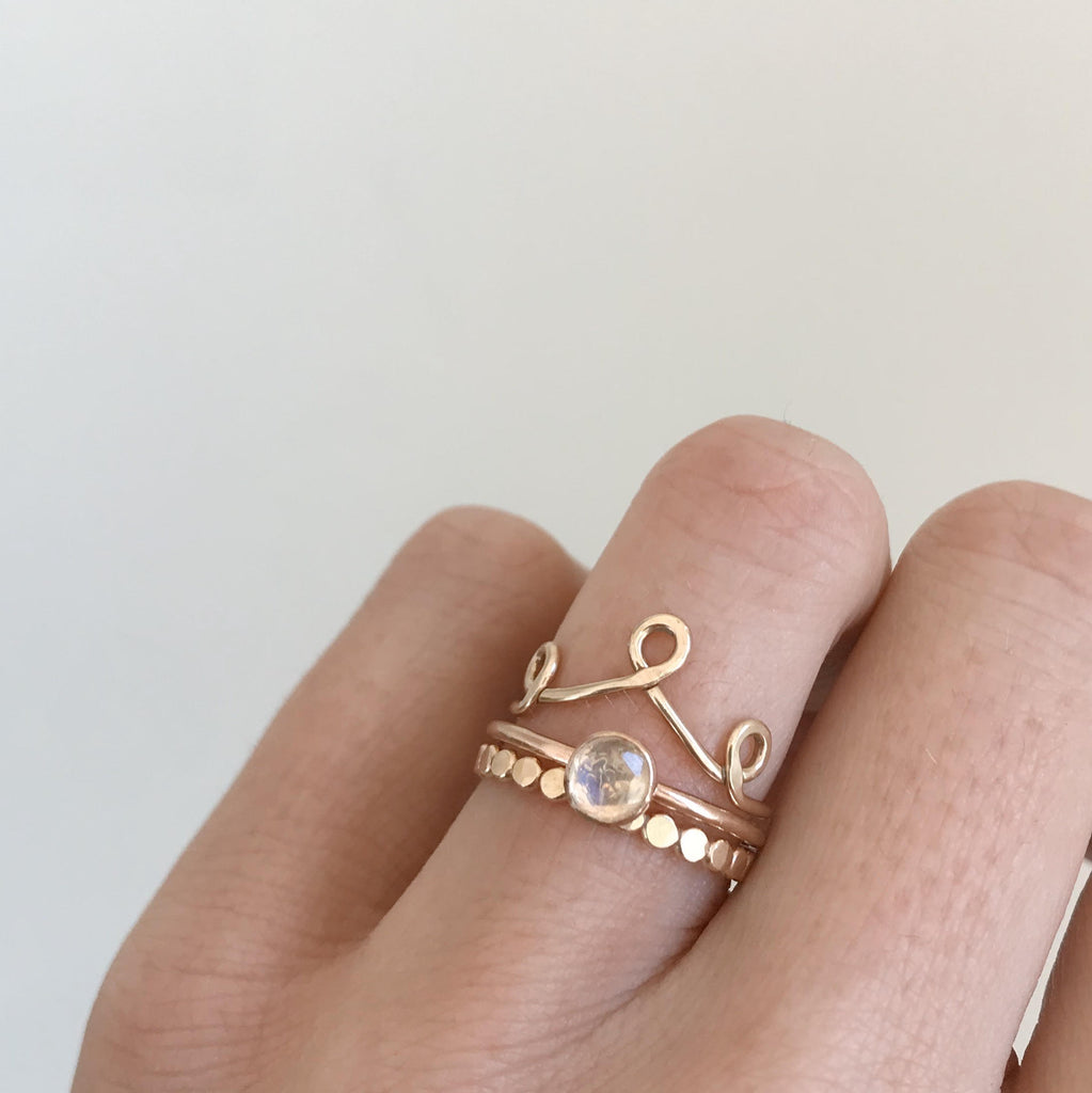 Crown ring in Gold