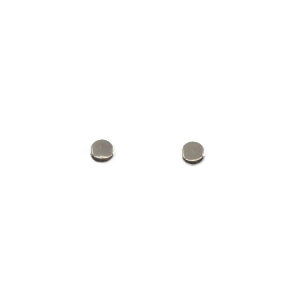 Tiny Circle Stud Earrings in Silver