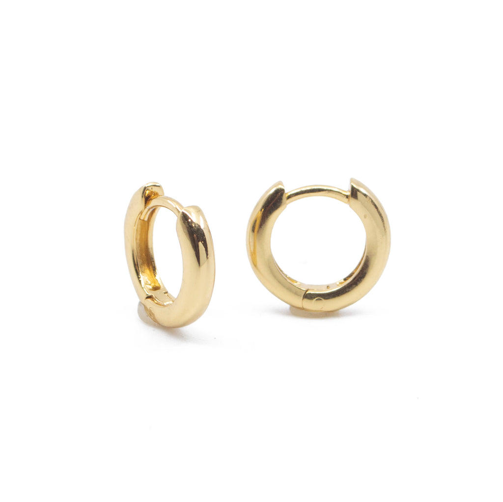 Classic Huggie Hoop Earrings in Gold