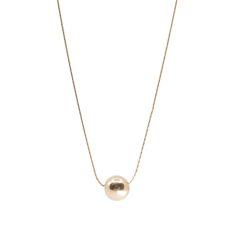 Minimalist dainty ball gold necklace