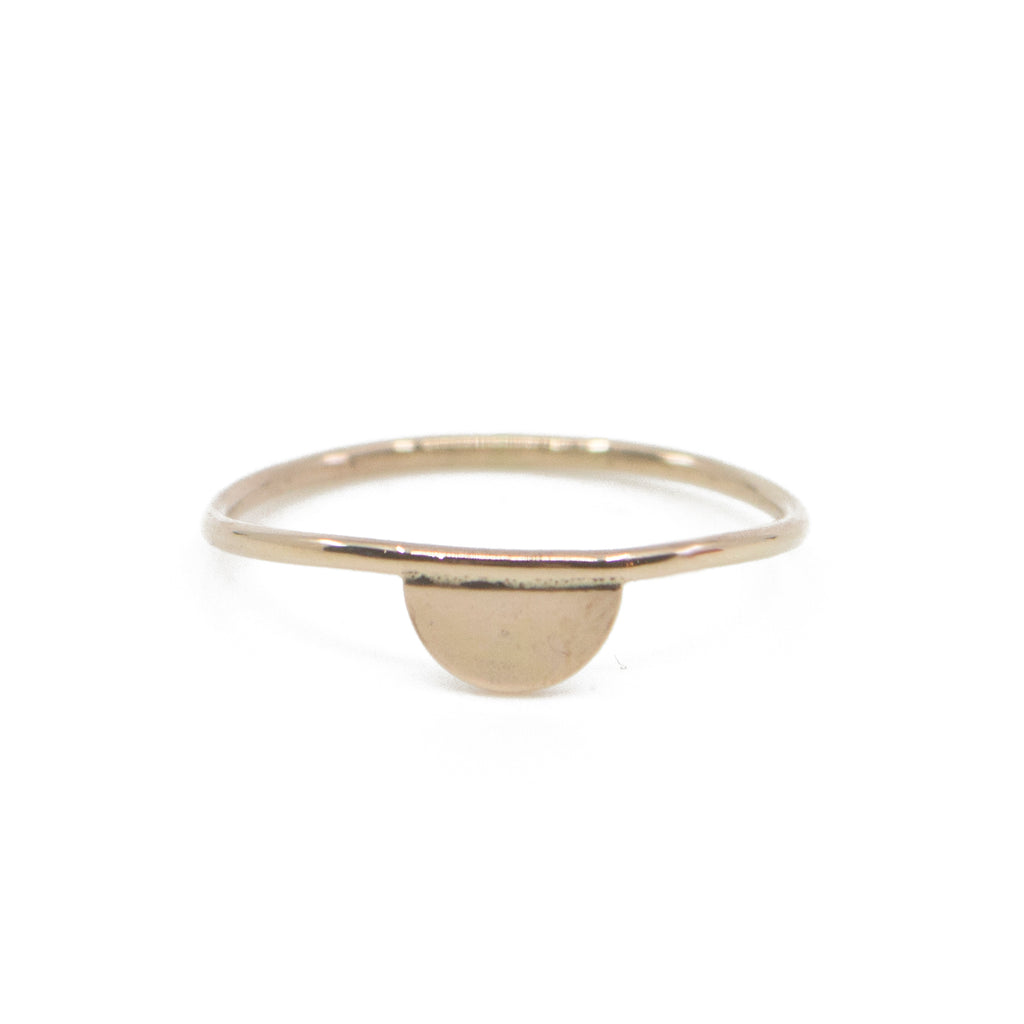 Half Moon Ring in Gold
