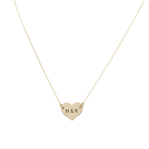 *Limited Edition* - Initial Heart Necklace in Gold