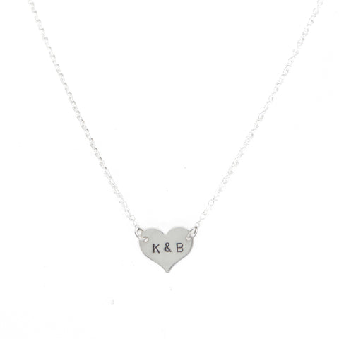 *Limited Edition* - Initial Heart Necklace in Silver
