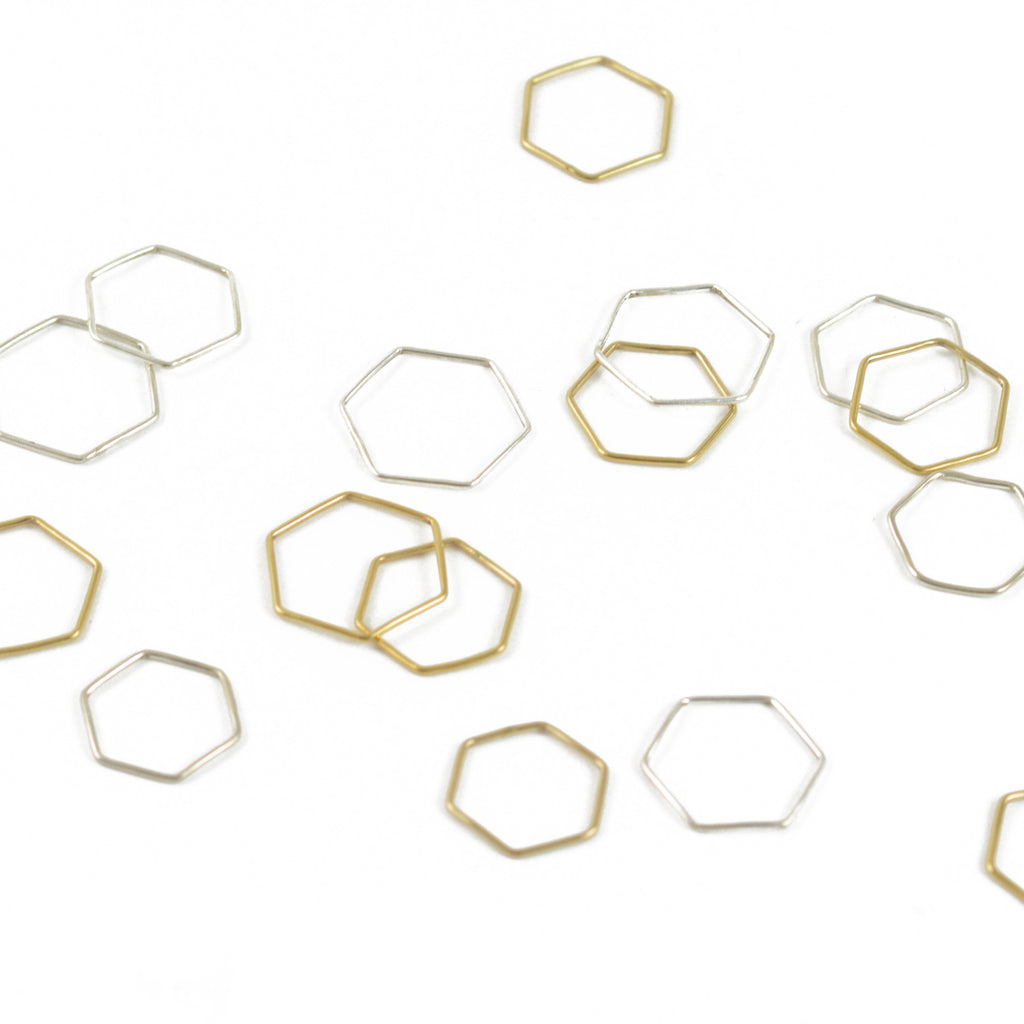 Gold Hexagon Stacking Ring