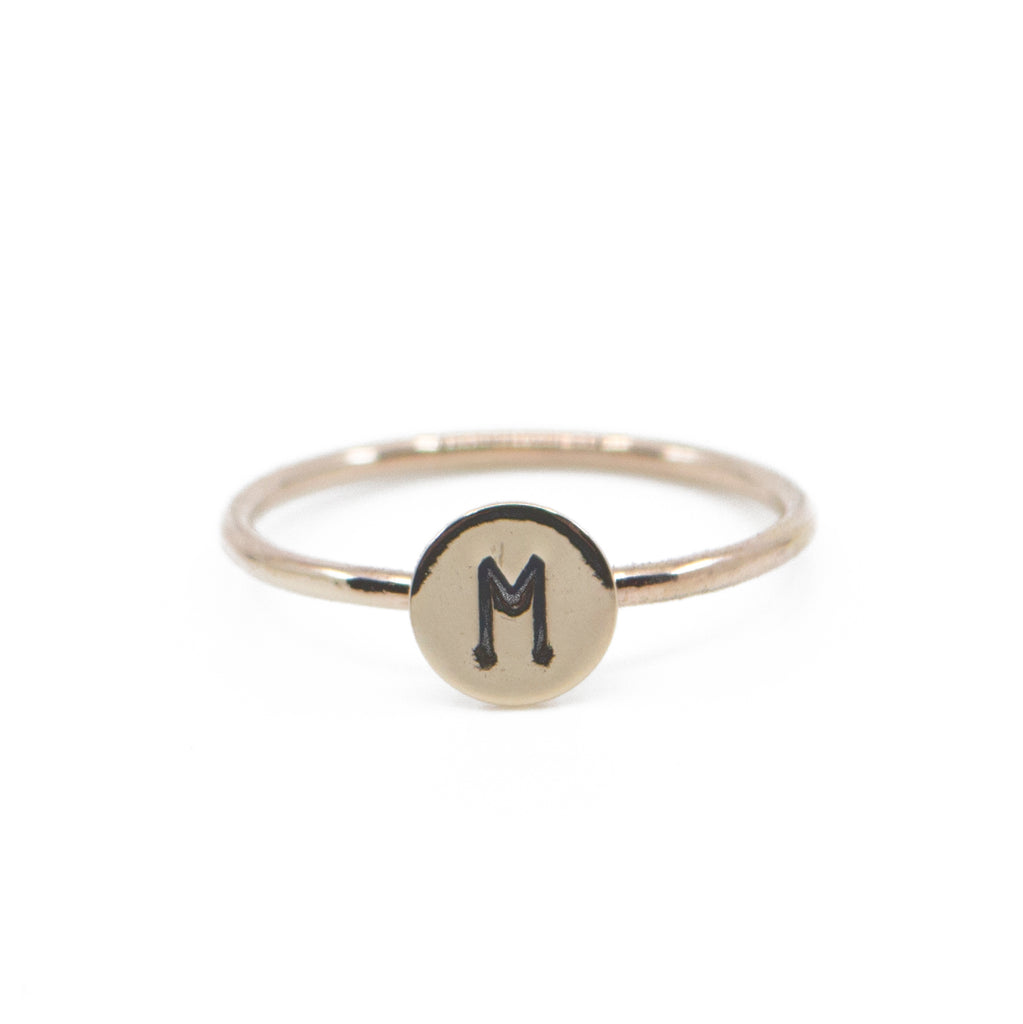 initial monogram personalized dainty minimal stacking ring jewelry