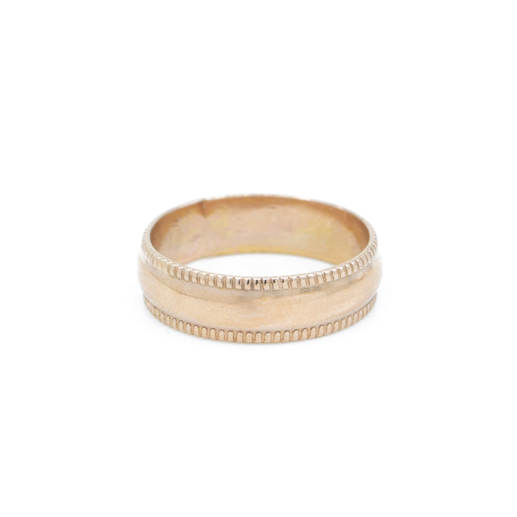 Juno Wide Band Ring in Gold