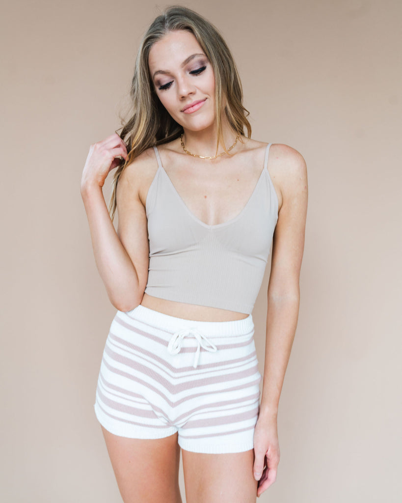 Dazey Seamless Brami in Cream