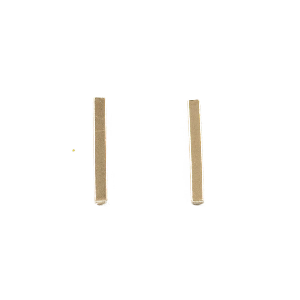 Minimalist bar stud earrings