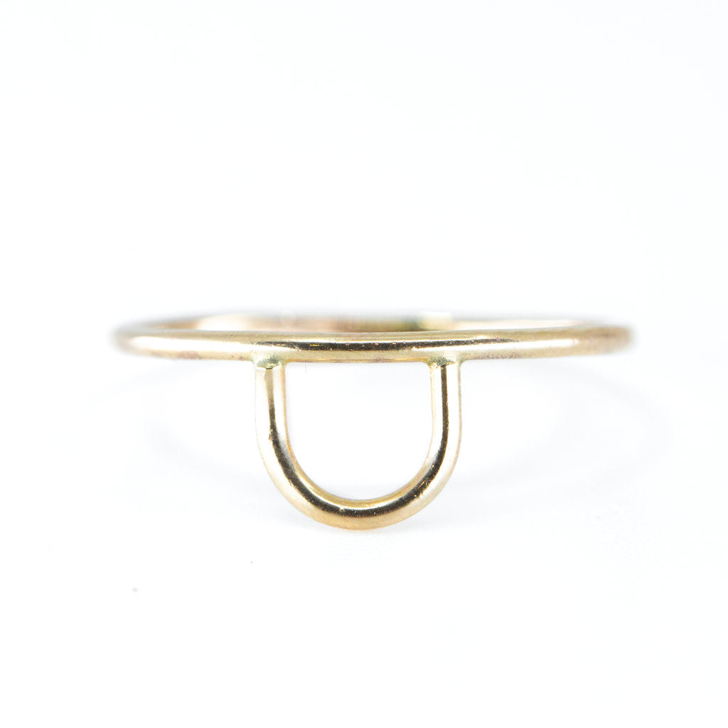 Minimalist dainty gold jewelry stacking ring
