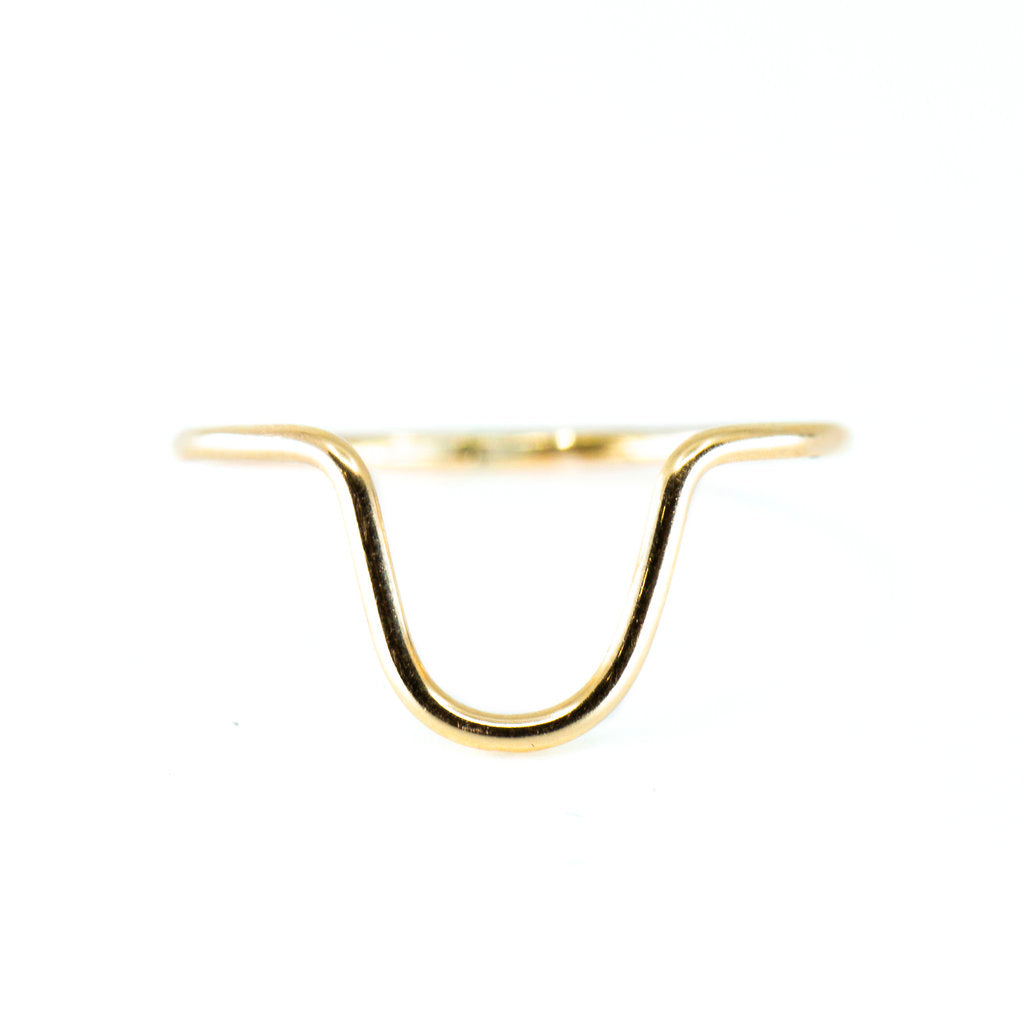 minimalist stacking ring gold dainty