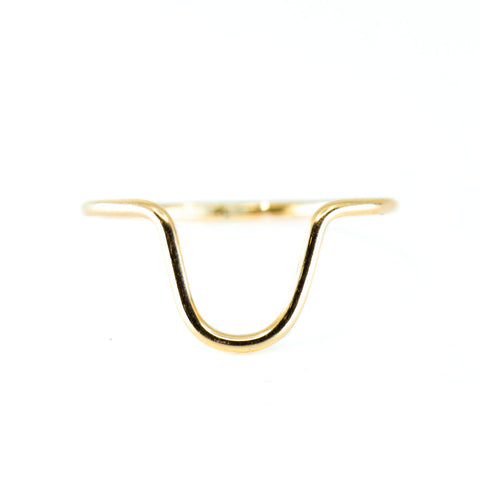 Gold Curve Ring