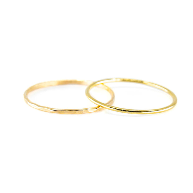 Smooth Stacking Ring in Gold 1