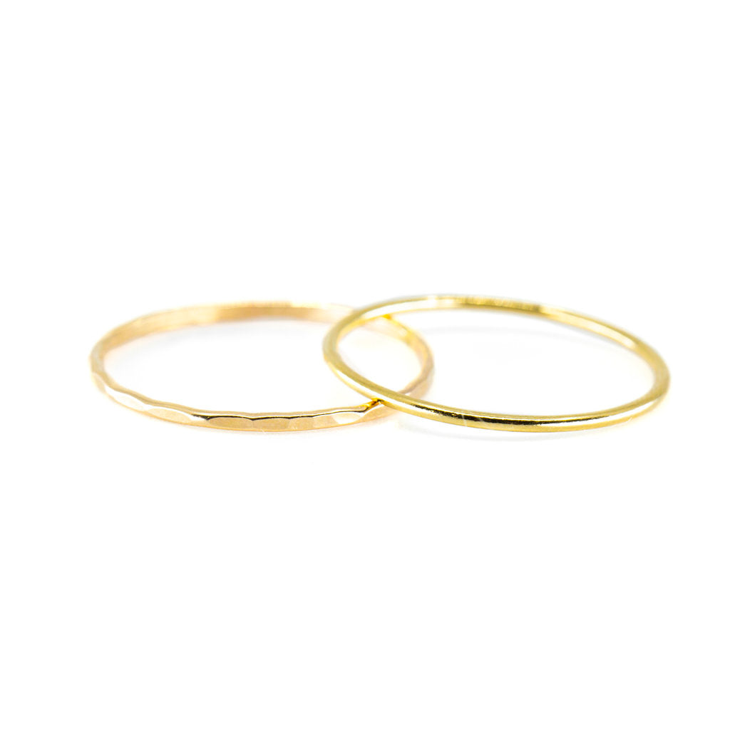 Smooth Stacking Ring in Gold