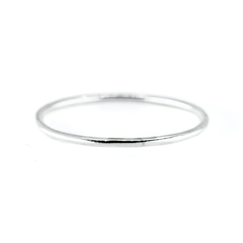 Smooth Stacking Ring in Silver