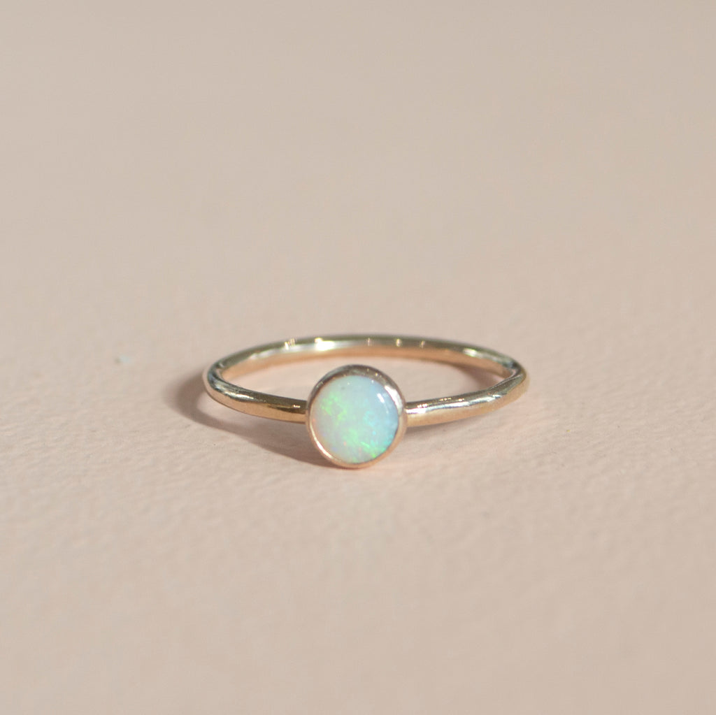 *Limited Edition* Opal Stacking Ring in Gold