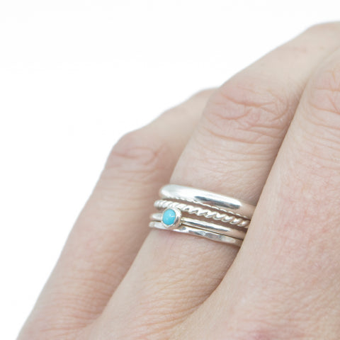 Cass Stacking Set in Silver