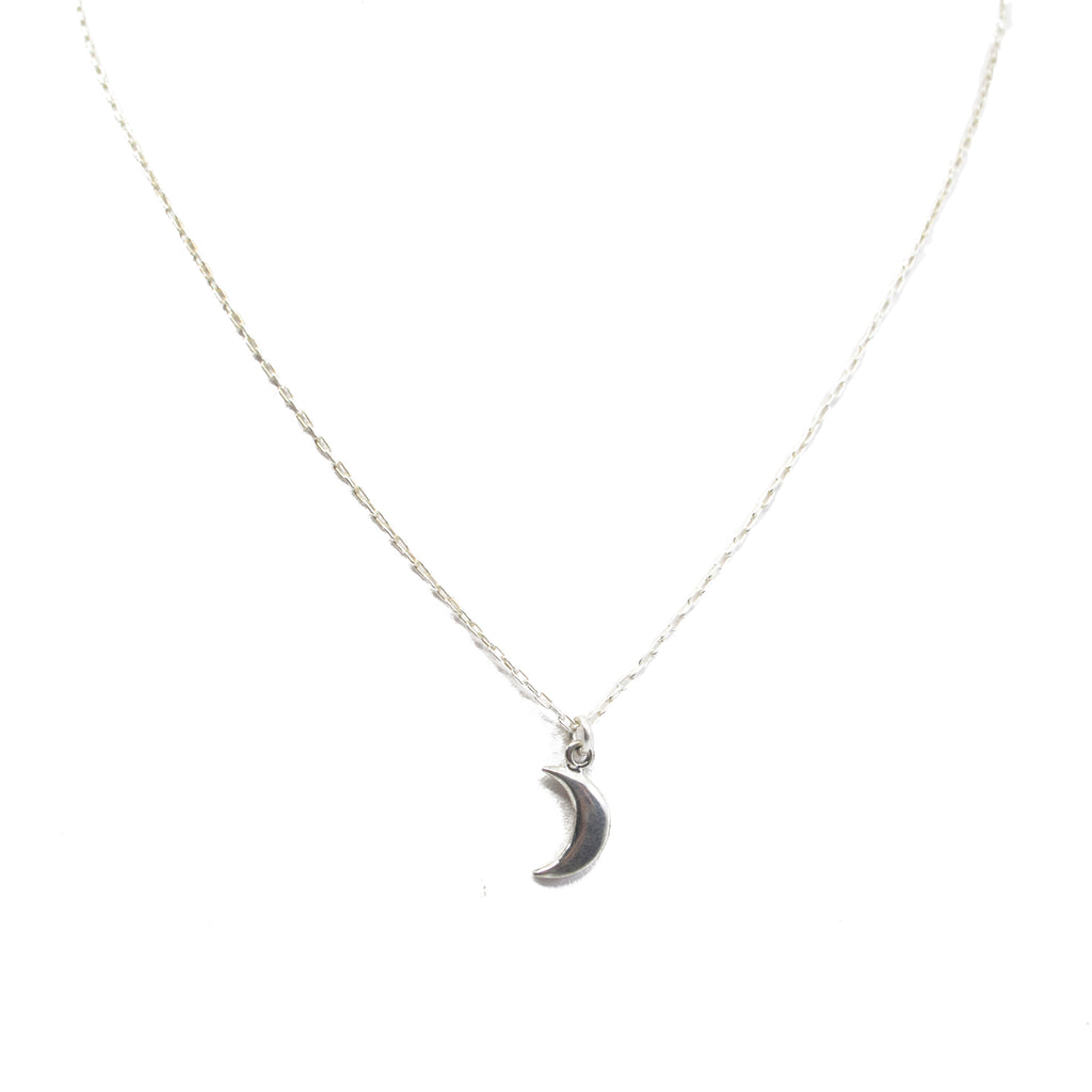 Silver Moon  Charm Necklace