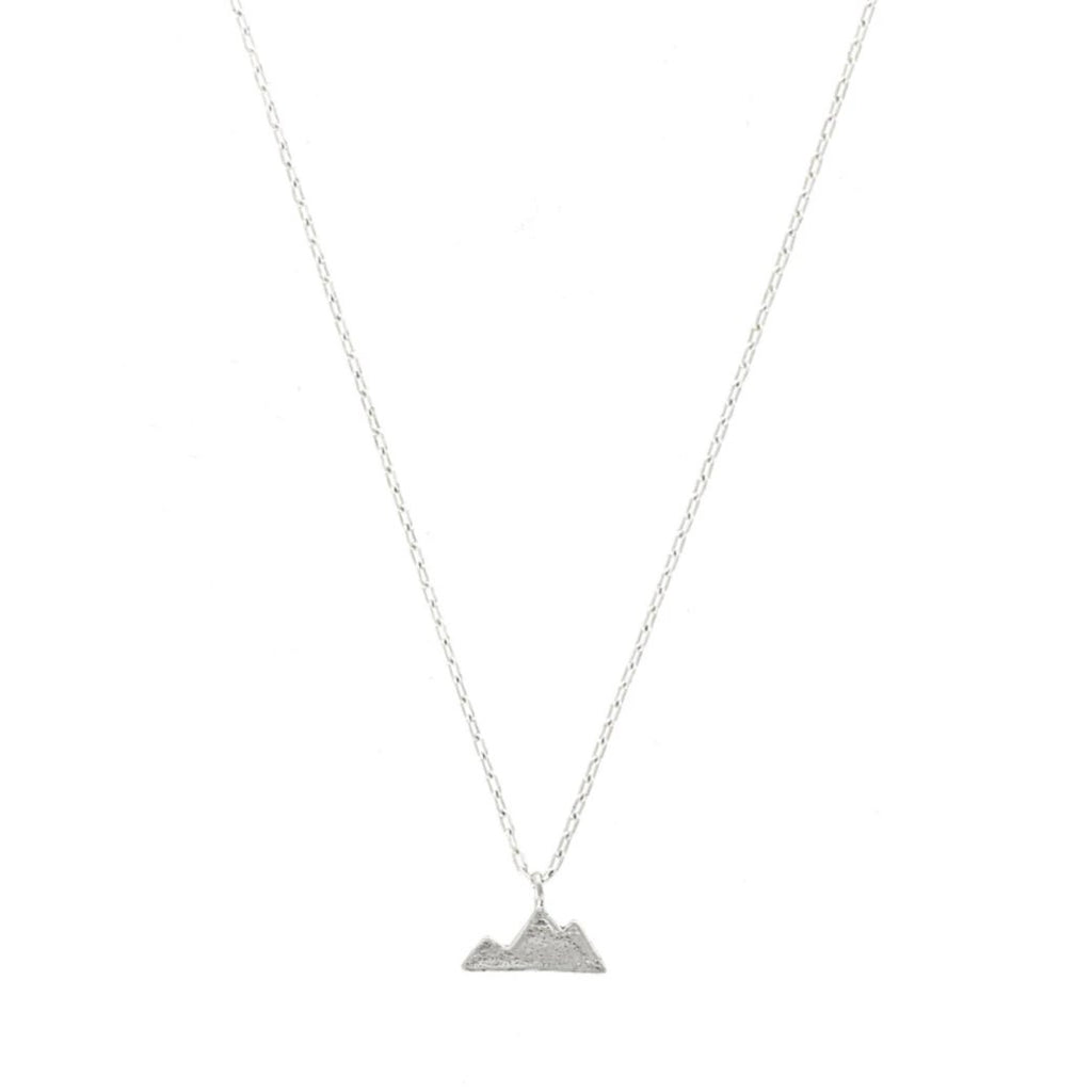 mountain shaped charm sterling silver necklace