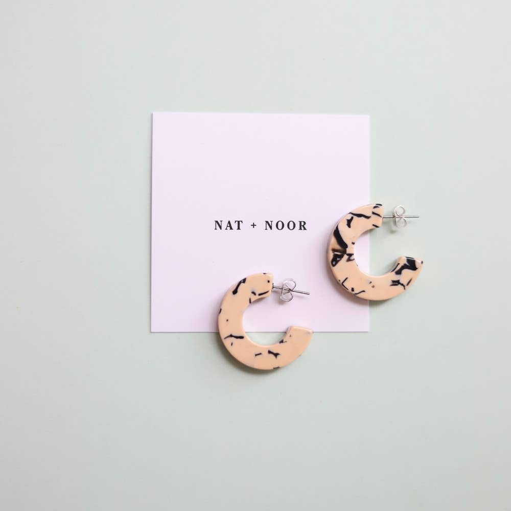 Ray Earrings in Marble