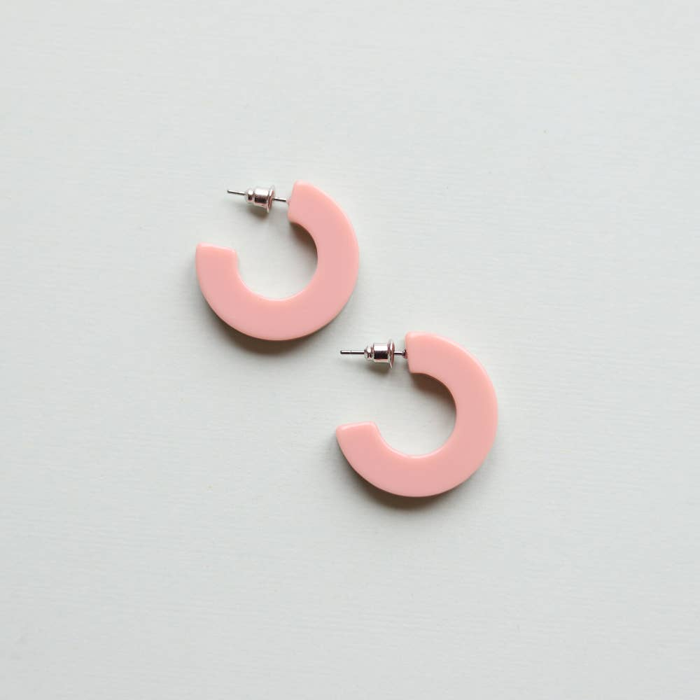 Ray Earrings in Rosy