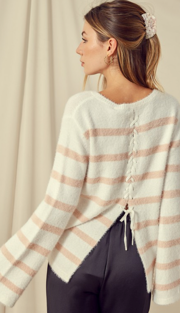 A Little Lace Striped Sweater
