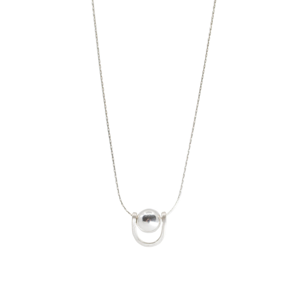 minimalist dainty bar necklace sterling silver