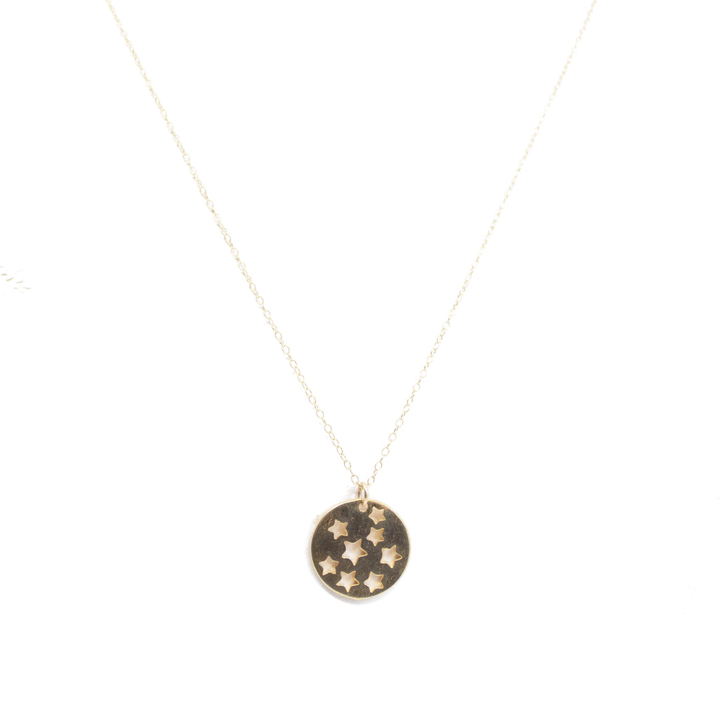 Gold Stars Pendant Charm Necklace