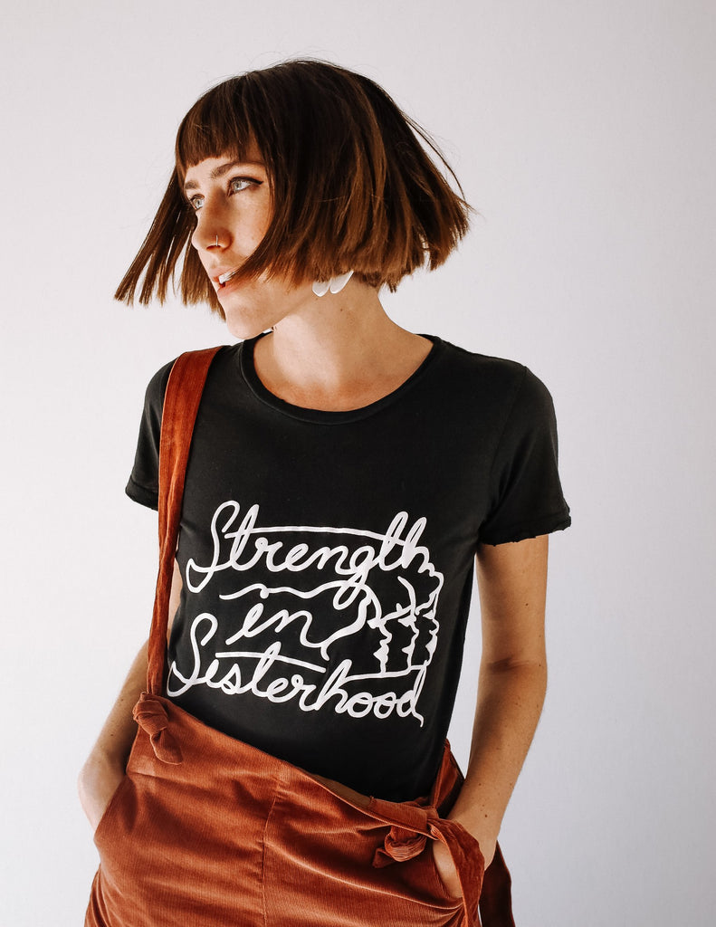 Strength in Sisterhood Tee - Black