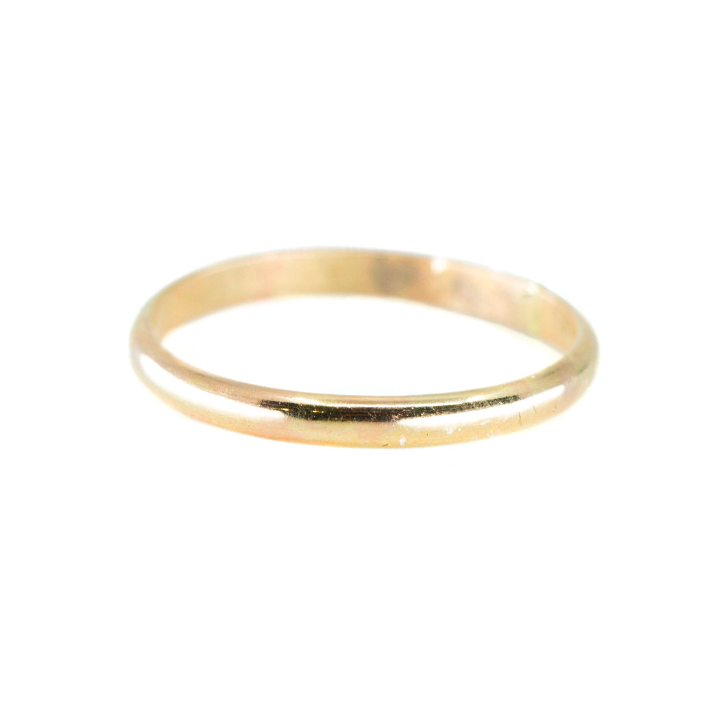 Thick Half Round Stacking Ring in Gold