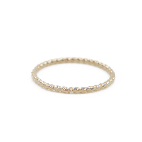 Twisted Stacking Ring  in Gold