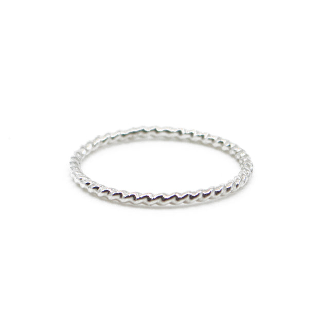Twisted Stacking Ring  in Silver 1