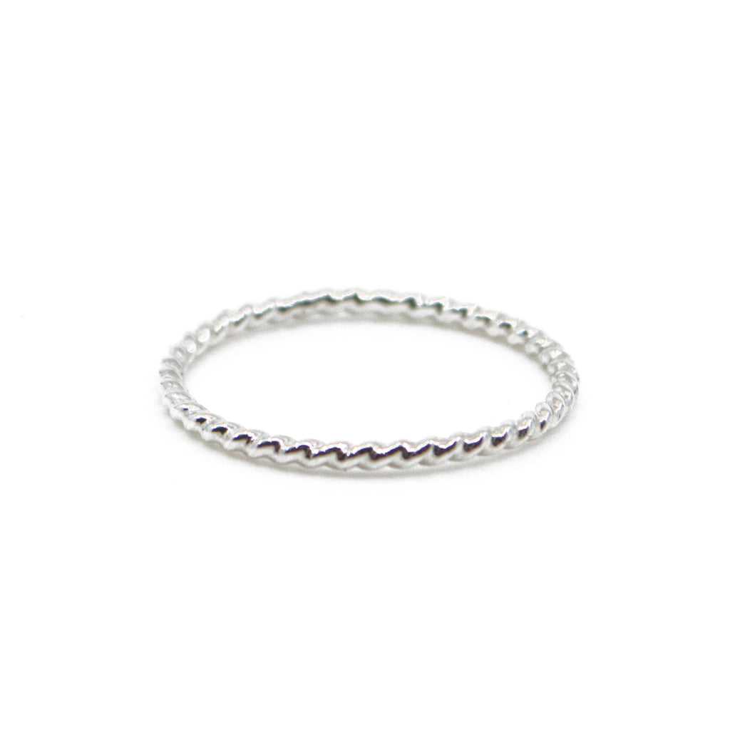 Twisted Stacking Ring  in Silver