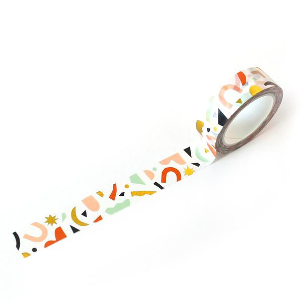 Confetti Pattern Gold Foil Washi Tape