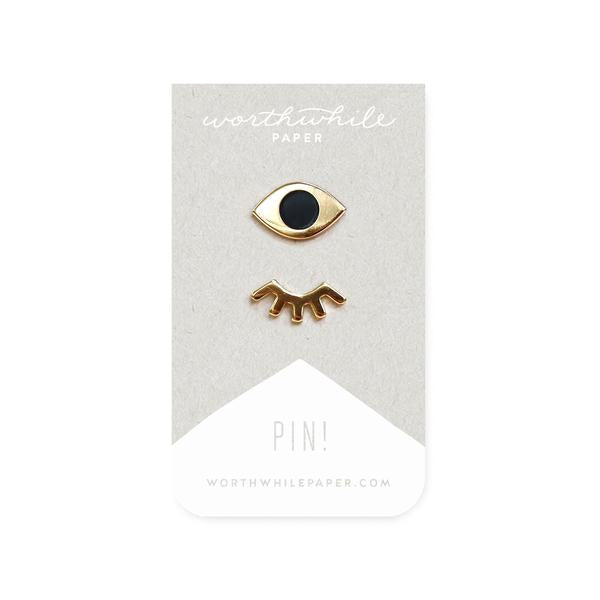 Winky Eyes Enamel Pin