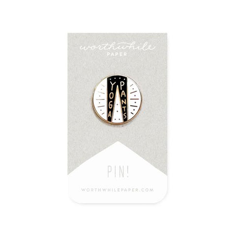 Yoga Pants Enamel Pin